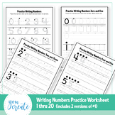 Writing Numbers 1-20   Tracing Numbers 1-20   Formation, Trace and Free Hand