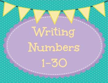 Writing Numbers 1-30