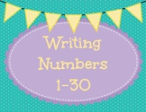 Writing Numbers 1-30