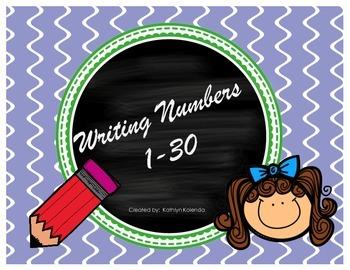 Writing Numbers - 1-30