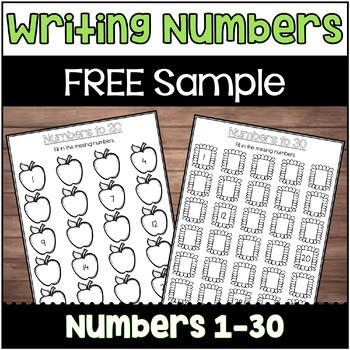 Writing Numbers 1-60