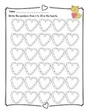 Free - Hearts Writing Numbers 1 to 30