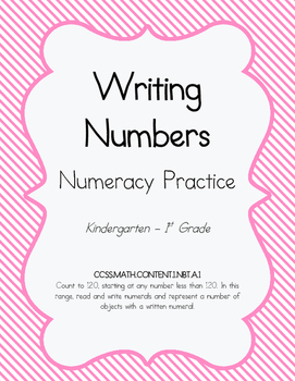 Numeracy Practice - Writing Numbers