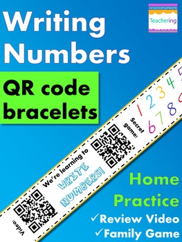 Writing Numbers Homework {Bracelet with review video & family game}