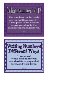 Writing Numbers Different Ways