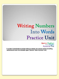Writing Numbers Into Words Practice Unit