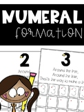 Writing Numbers: Numeral Formation Poems & Practice Pages