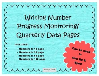 Writing Numbers Progress Monitoring and Quarterly Progress