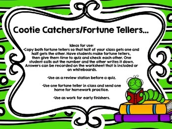 Writing Numbers Through Millions-Two Cootie Catchers