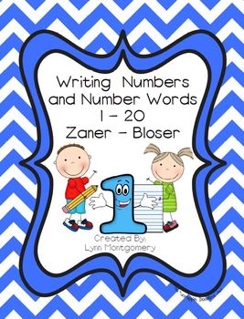 Writing Numbers and Number Words 1 - 20 - Zaner-Bloser