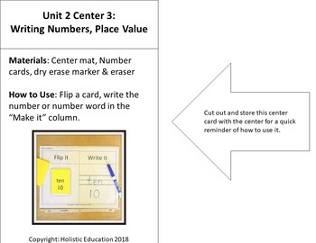 Writing Numbers in Base 10 Center