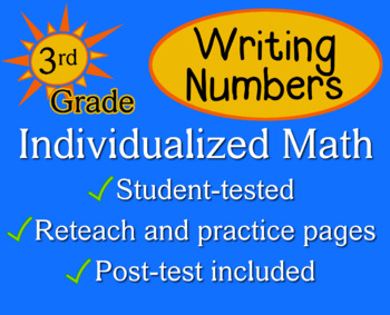 Writing Numbers in Different Forms, 3rd grade - Individual