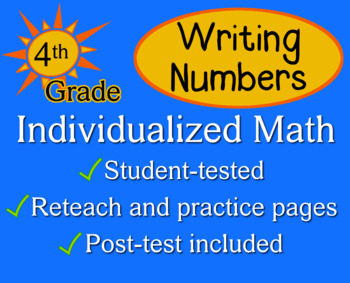Writing Numbers in Different Forms, 4th grade - Individualized Math - worksheets