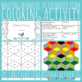 Writing Numbers in Expanded Form Coloring Activity
