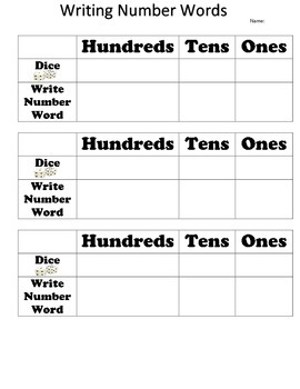 Writing Numbers in Hundreds, Tens, and Ones