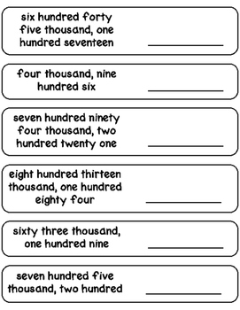 Writing Numbers in Standard Form