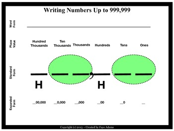 Writing Numbers in Standard, Expanded, & Word Form Up to 999,999