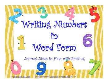 Writing Numbers in Word Form: journal notes 4.NBT.A.2
