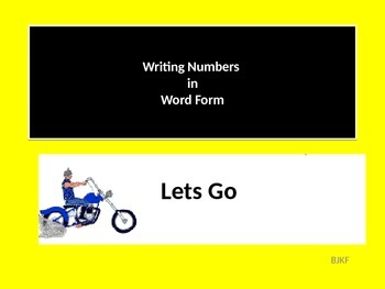 Writing Numbers in Word Form with Student Worksheet