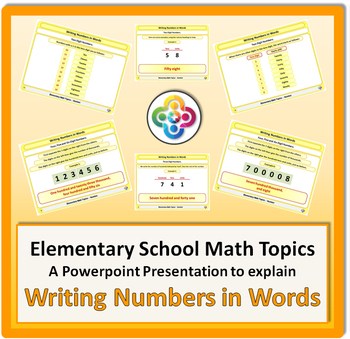 Writing Numbers in Words for Elementary School Math Powerpoint