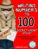 Writing Numbers to 100 FREEBIE--Secret Agent Style!