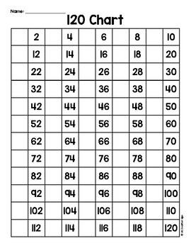 Writing Numbers to 120 * Freebie*