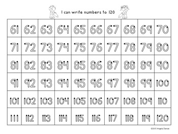 Writing Numbers to 120  Guided Practice  {Intervention, Special Ed}
