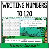 Writing Numbers to 120 Using a One Hundred Twenty Chart {Digital Boom Cards™}