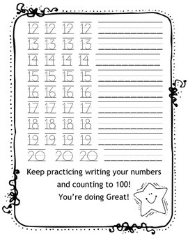 Writing Numbers to 20