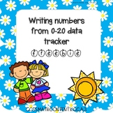 Writing Numbers to 20 Data Tracker Freebie