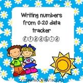 Writing Numbers to 20 Data Tracker Freebie