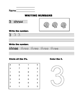 Write and Identify Numbers 0 to 10