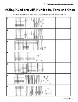 Writing Numbers with Hundreds, Tens and Ones - Place Value Models