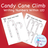 Writing Numbers Within 120 - Candy Cane Climb Activity