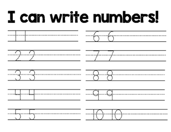 Writing Numerals