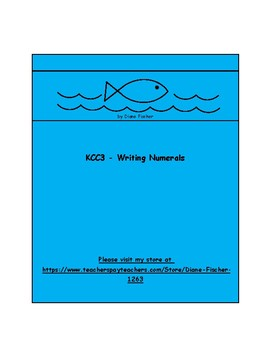 Writing Numerals Poems and Practice - KCC3