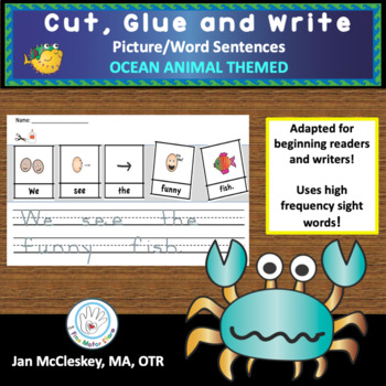 Writing Ocean Words Teaching Resources | Teachers Pay Teachers