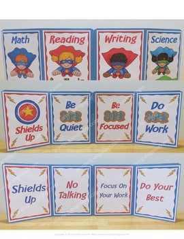 Writing Office Superhero Theme 2nd, 3rd and 4th Grade