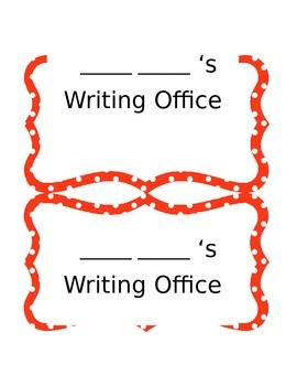 Writing Office Templates- Dr. Seuss Style!