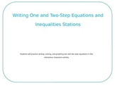 Writing One and Two-Step Equations and Inequality Walk Aro