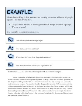 Writing Open-Ended Responses - With Examples! *Common Core*