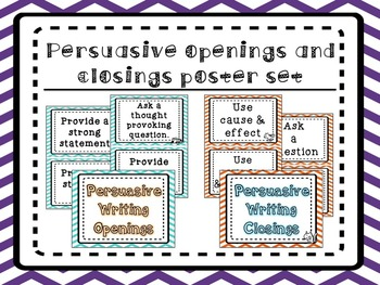 Writing Openings & Closings Poster Set