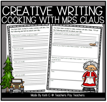 december narrative writing cooking cookies with mrs claus by kelli c