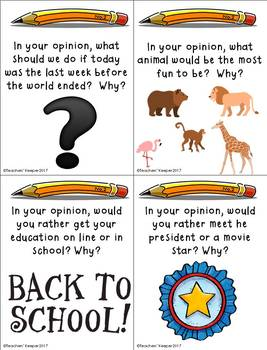 Writing Opinion Prompts - CCSS (Intermediate Grades)