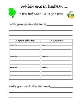 Writing Opinion St. Patrick's Day
