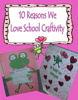 Writing Opinions Craft Hearts and Frog Themed Craftivity