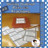 Writing Ordered Pairs with Fractions Task Cards and Walk A