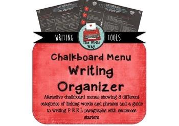 Writing Organiser - Chalkboard Menu Theme