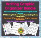 Writing Organizer Bundle - 4 Graphic Organizers and Student Activities
