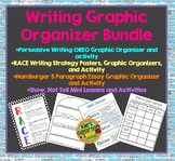 Writing Organizer Bundle - 4 Graphic Organizers and Student Activities